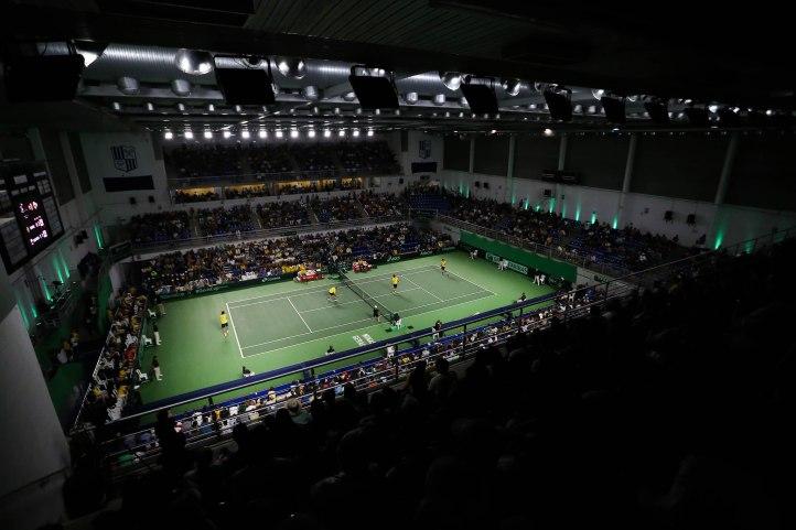 Brasil enfrentou o Equador no Minas Tênis Clube, em Belo Horizonte, pelo Zonal Americano da Copa Davis em 2016. Crédito: Cristiano Andujar