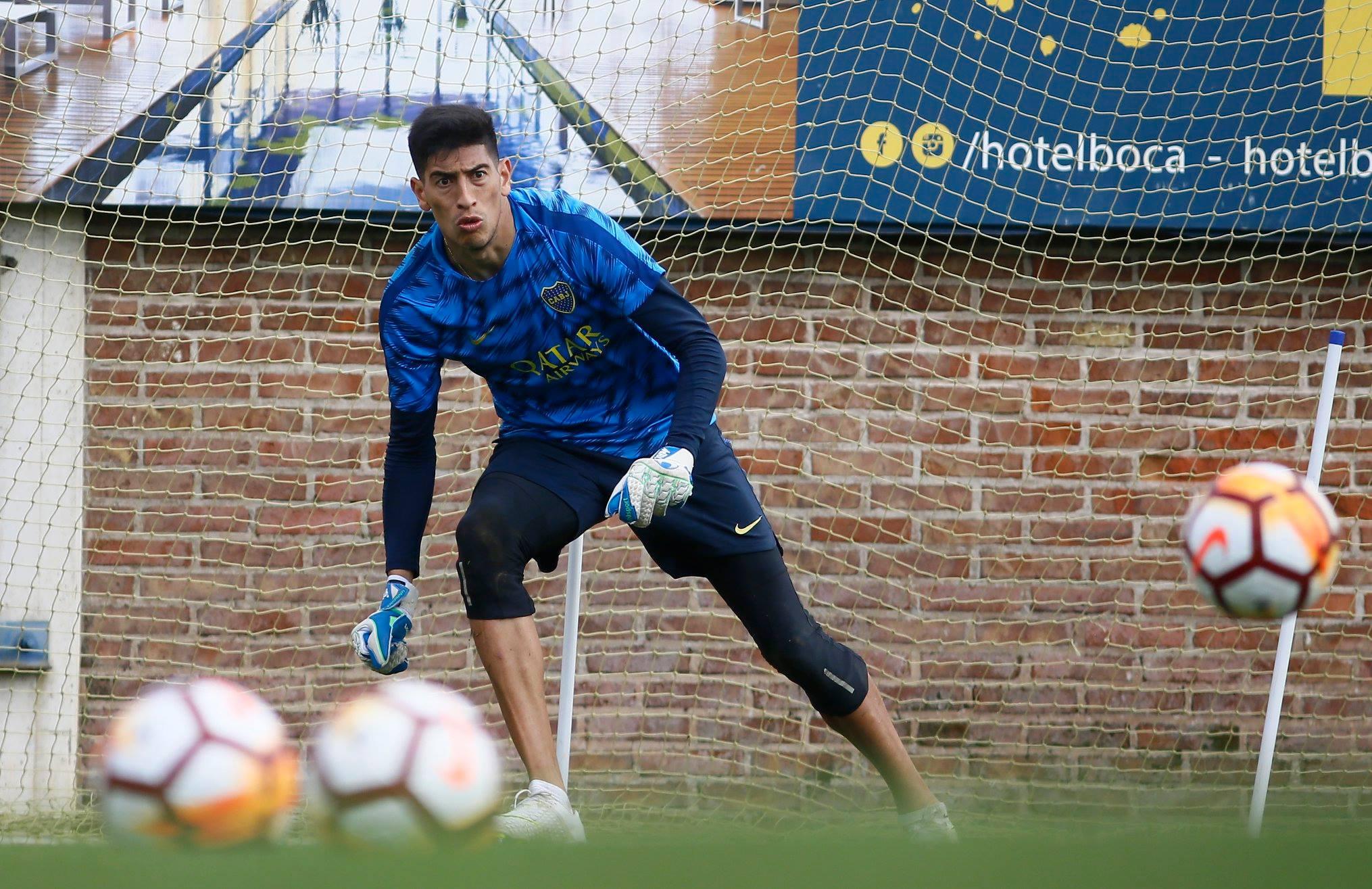 Reforço do Boca Juniors, goleiro Andrada treina para enfrentar o Cruzeiro na Libertadores. Crédito: Divulgação
